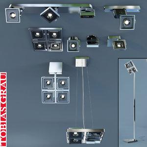 studio led wall 3d model