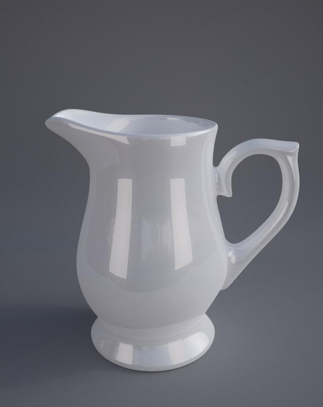 3d model of ceramic jug
