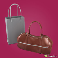 woman brown leather handbag 3d max