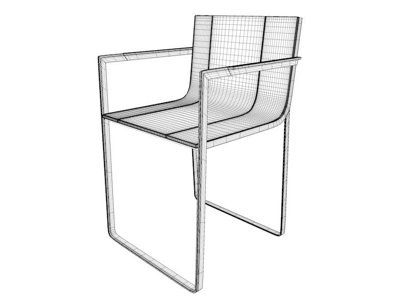 gandia blasco flat chair 3d model