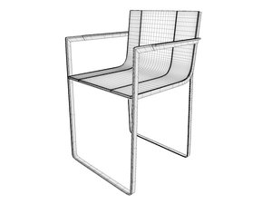 gandia blasco flat chair 3d model