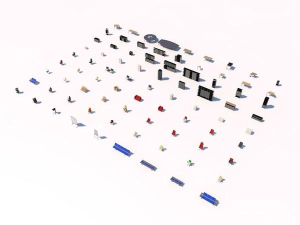 office pack 3d model
