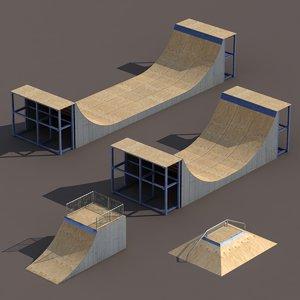 skate pipe 3d 3ds