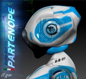 3d bella-bot robot avatar