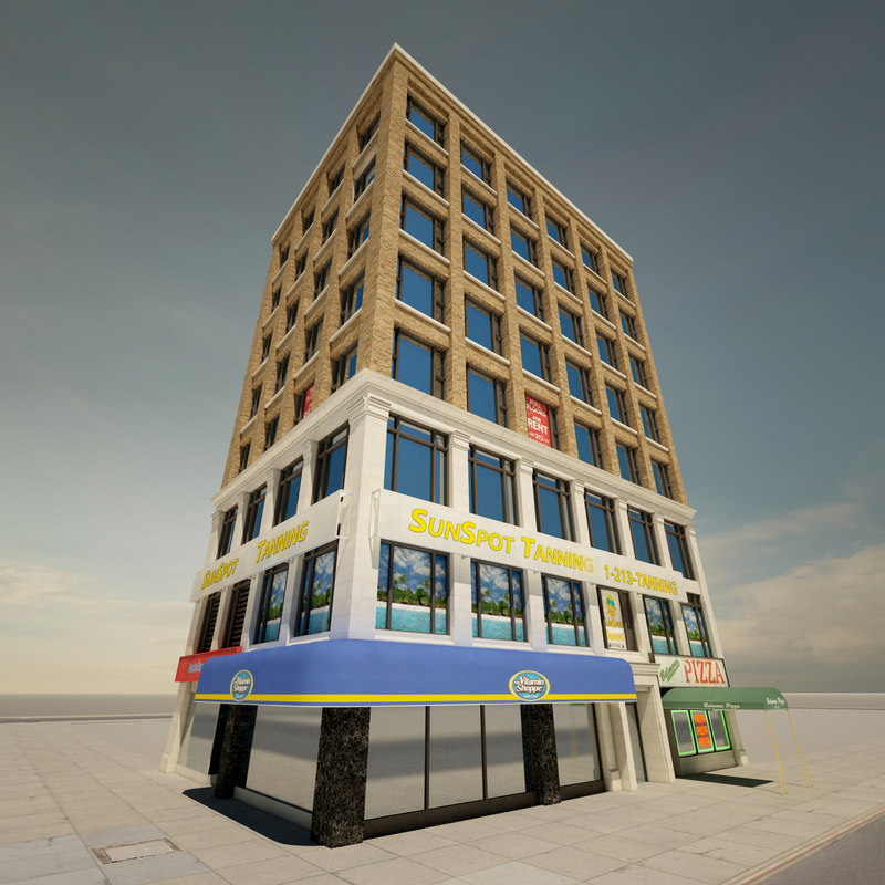 3d new york office building model