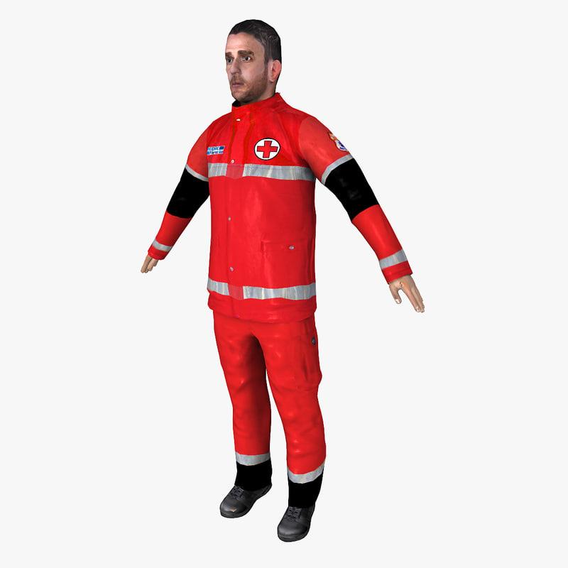 paramedic ready 3d model