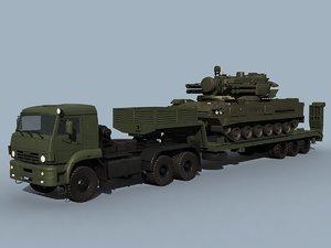 kamaz-65225 sa-19 grison combo 3d model