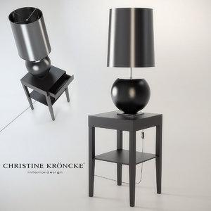 petit lamp christine kroncke 3d max