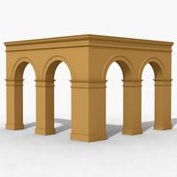 arches corner 3d model