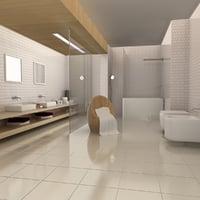 bath room scene 01 3d model