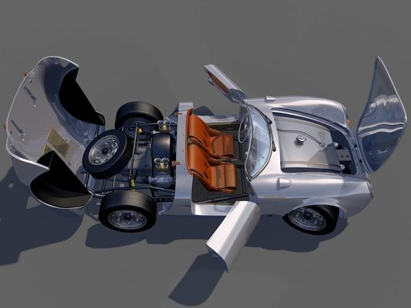 3d model porsche 550 spyder