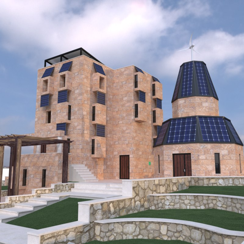 sustainability home 3d max