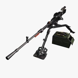 3d nsv machine gun model