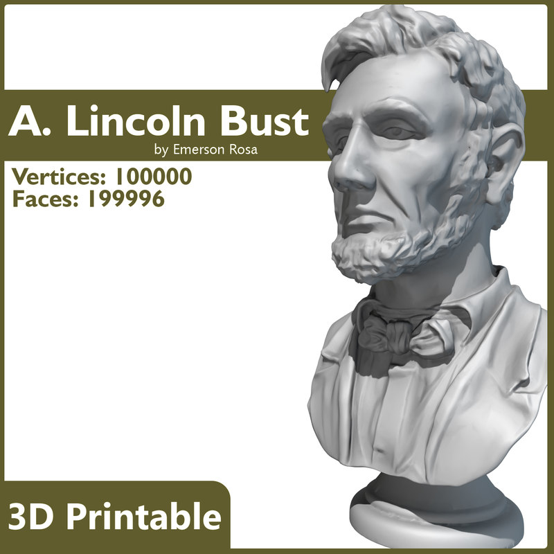 max 3d-printable bust abraham