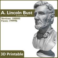 max 3d-printable bust abraham