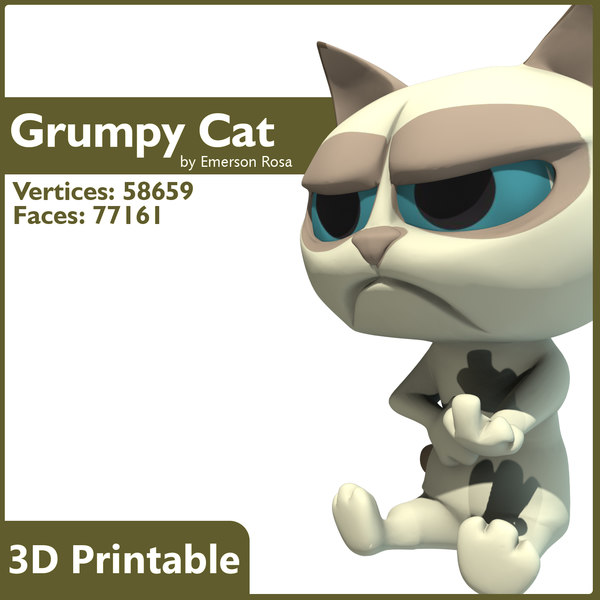 3d model grumpy cat