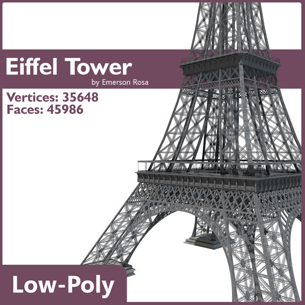 Low-Poly Eiffel Tower