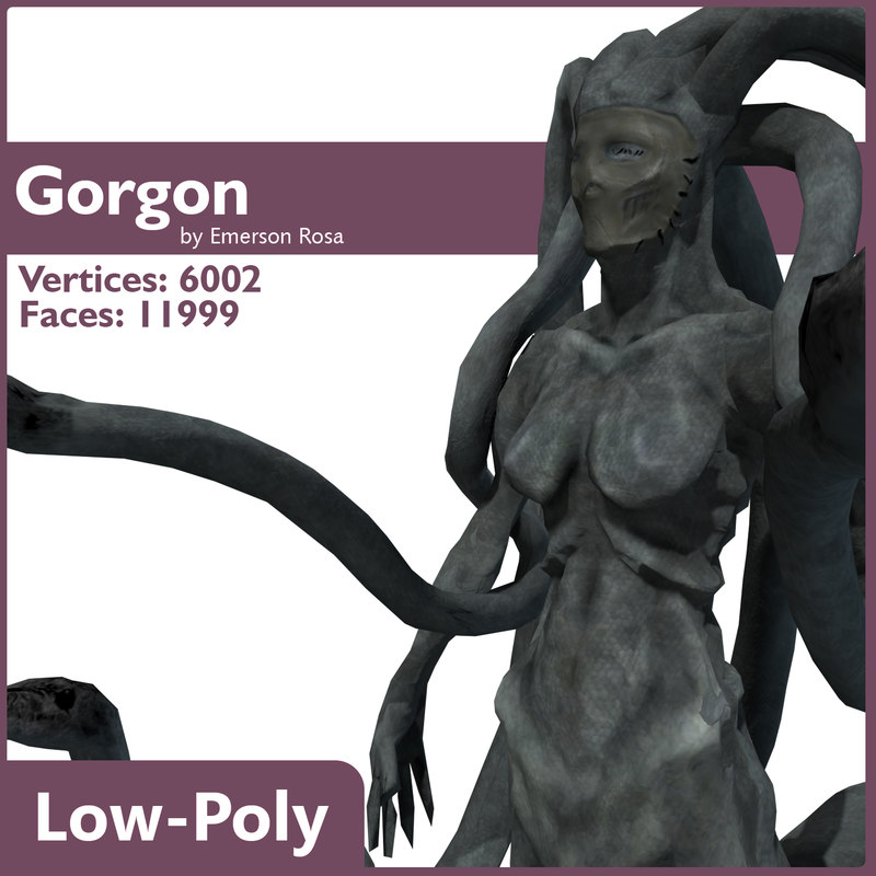 3d gorgon model
