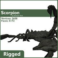 3d scorpion rigged model