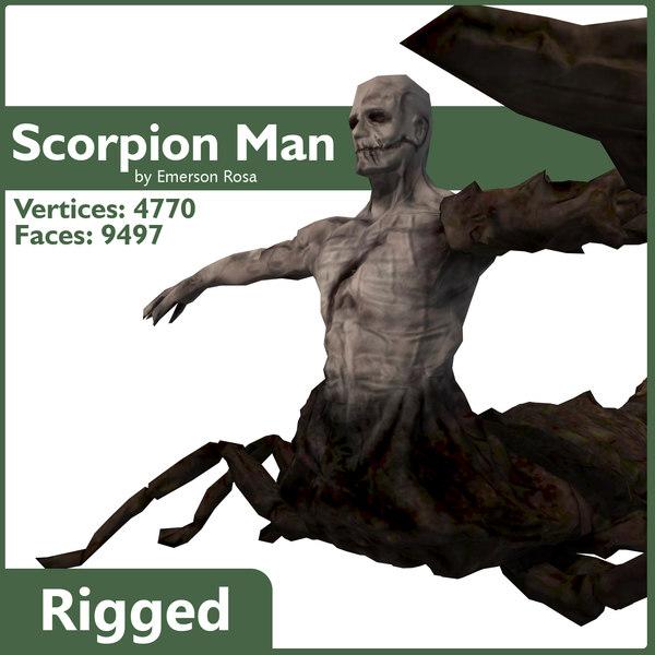 max scorpion rigged