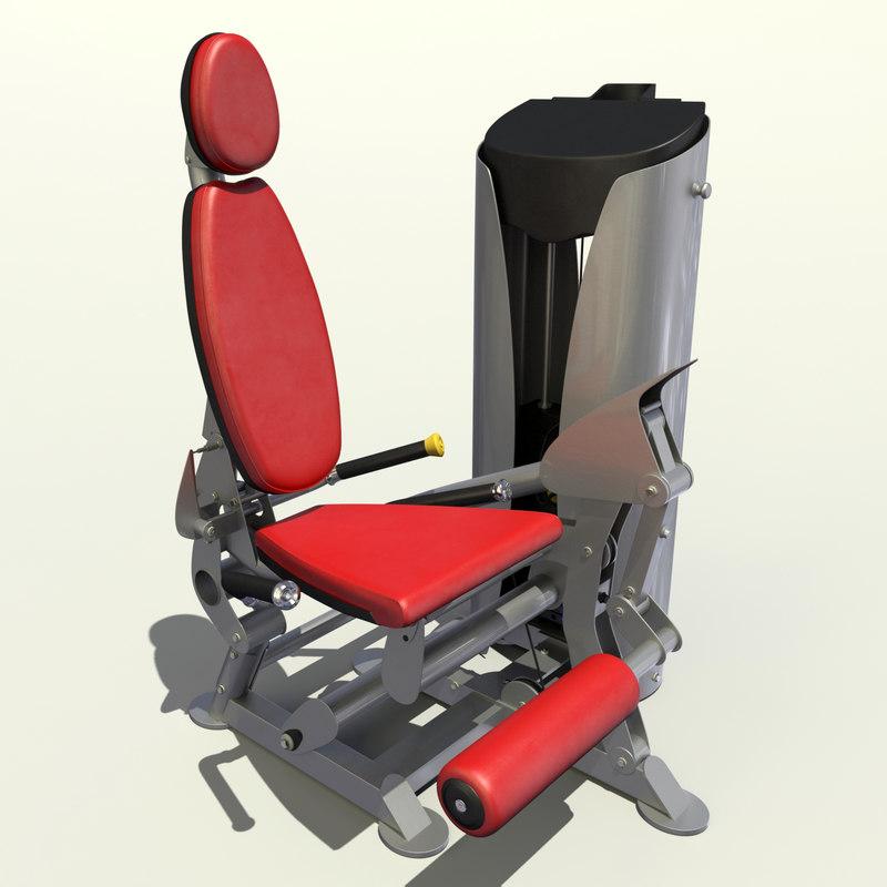 leg extension 3d model