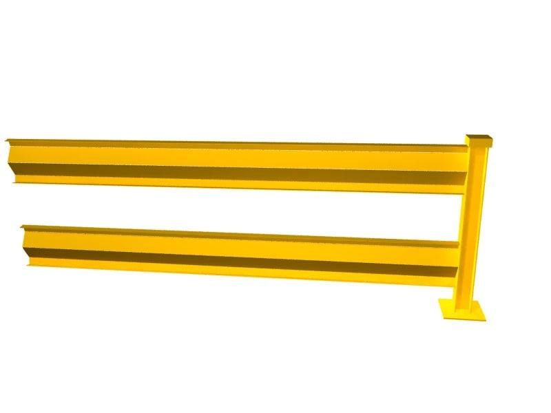 square post guard rail 3d max