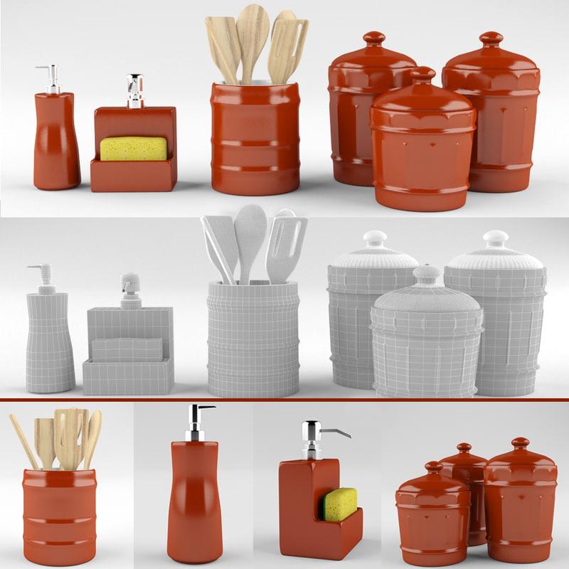 3d kitchen set vol 01 model