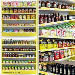 3d max supermarket market