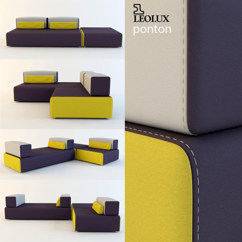 leolux - ponton 3d model