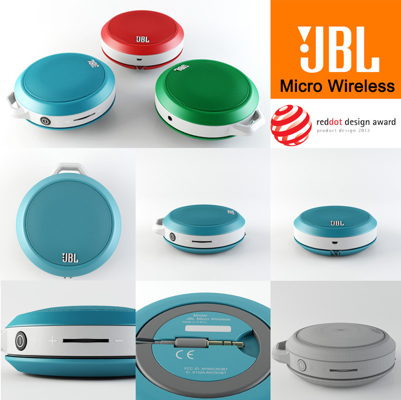 jbl micro wireless 3d model