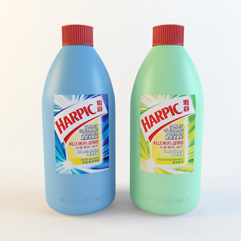 3d model harpic toilet cleaning powder