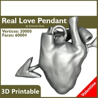 anatomic printable real pendant 3d obj