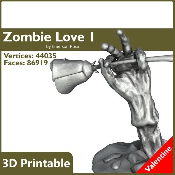 obj printable zombie hand