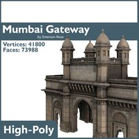 mumbai gateway india 3d max