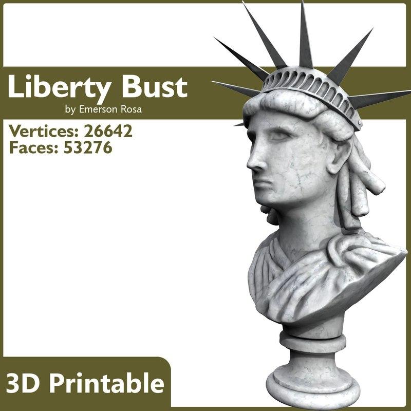 bust statue 3d model
