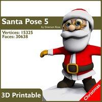 3d model santa t