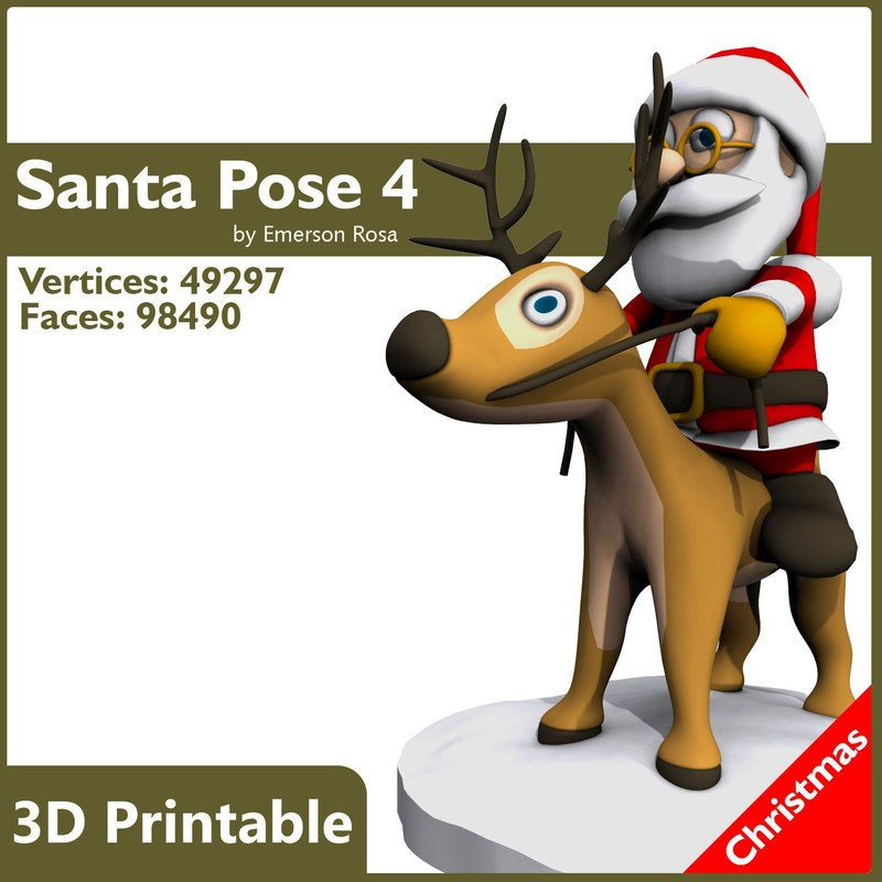 3ds max santa print-ready christmas