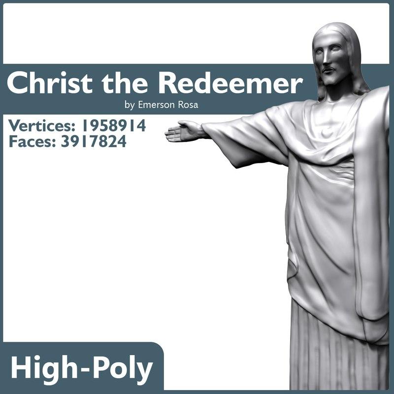 high-poly christ 3d model