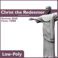 christ redeemer 3d max