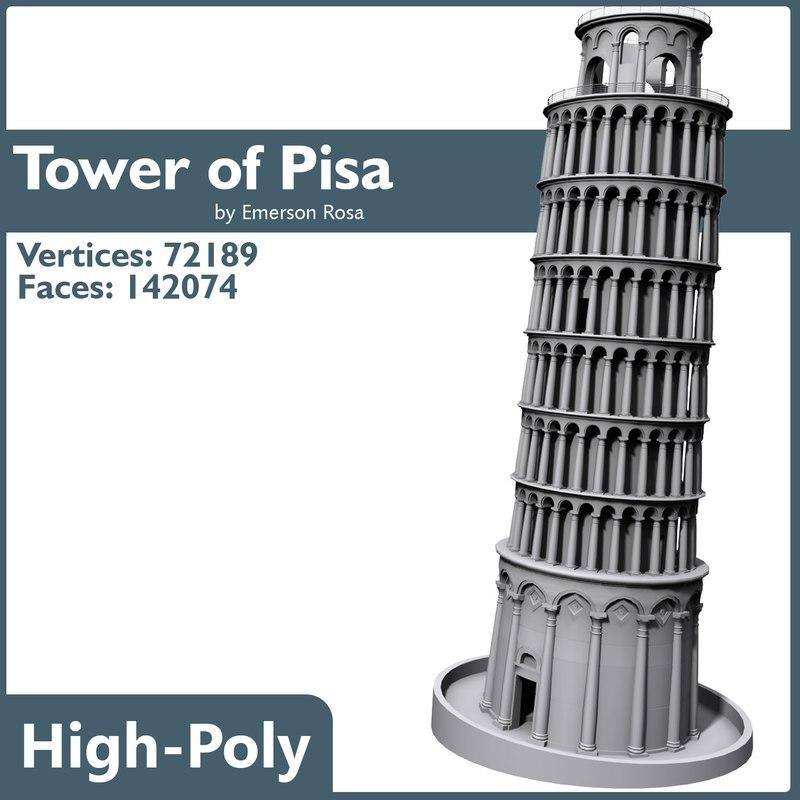 3d pisa tower model