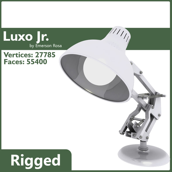 Luxo Jr Lamp - Rigged