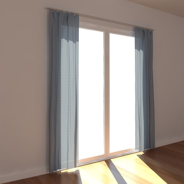 3d max draperies window