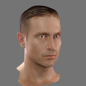head rigged 3d max