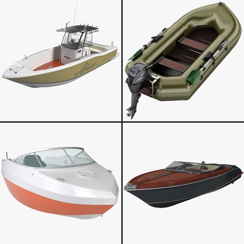 recreational watercraft 2 3d model