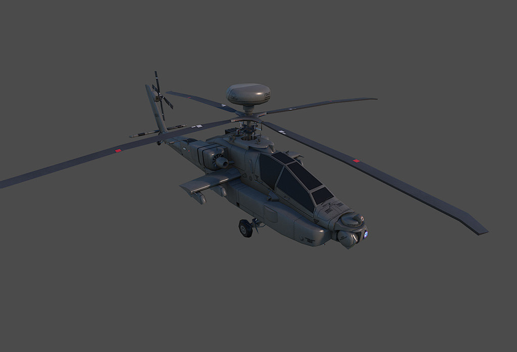 ah-64 longbow 3d model