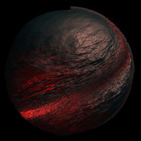 scifi black red sphere shader AA14417.TAR