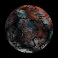 scifi blue red veined sphere shader AA14419.TAR