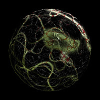 scifi green black red sphere shader AA14441.TAR