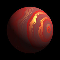 scifi sphere red yellow shader AA14501.TAR