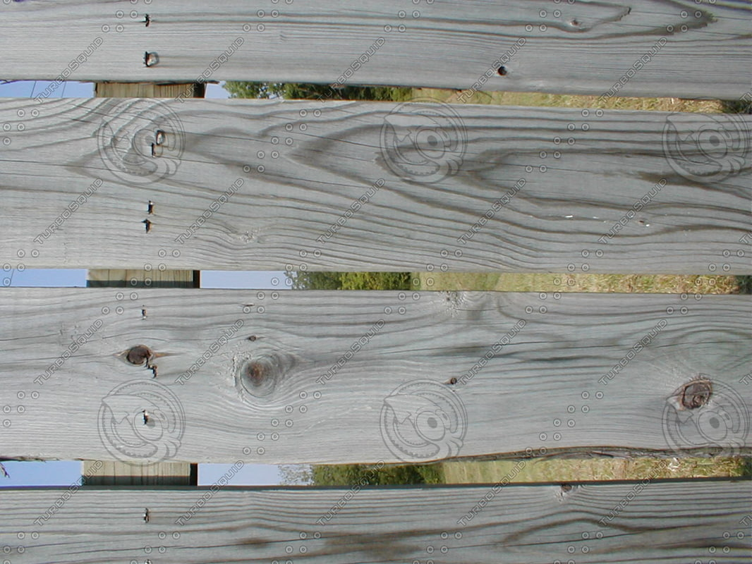 Wood 0960 Fence Pattern Stock Photo